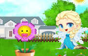 Juego Baby Elsa Flower Care