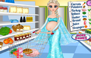Juego Pregnant Elsa Food Shopping
